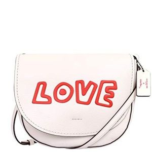 COACH x Keith Haring White LOVE Crossbody Bag